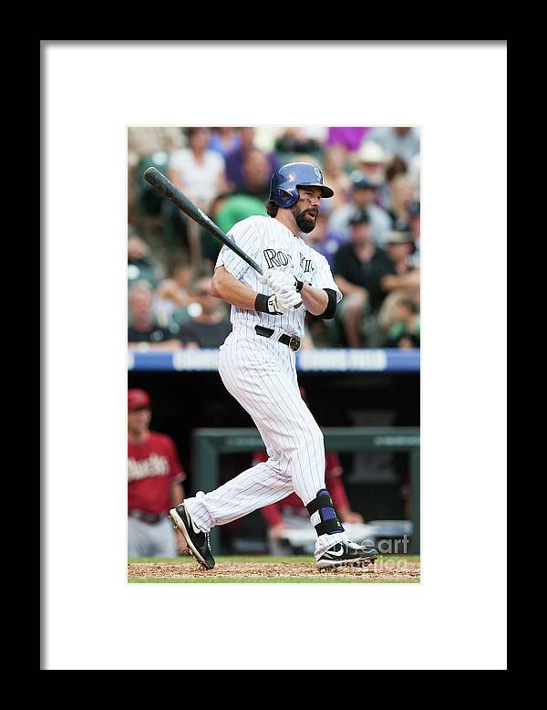 Todd Helton Framed Print featuring the photograph Todd Helton by Dustin Bradford