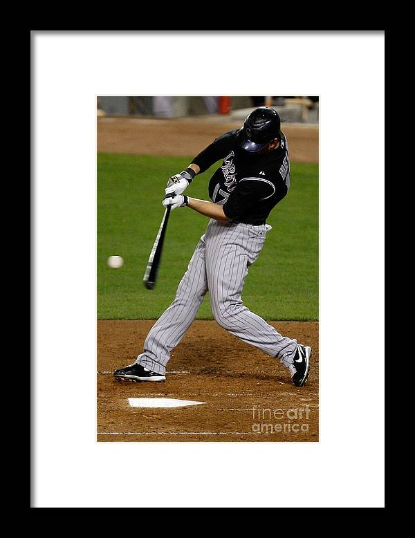California Framed Print featuring the photograph Todd Helton by Jacob De Golish