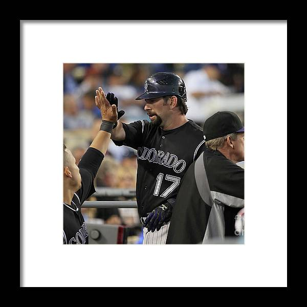 People Framed Print featuring the photograph Todd Helton by Jeff Gross
