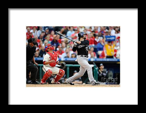 Playoffs Framed Print featuring the photograph Todd Helton by Jeff Zelevansky