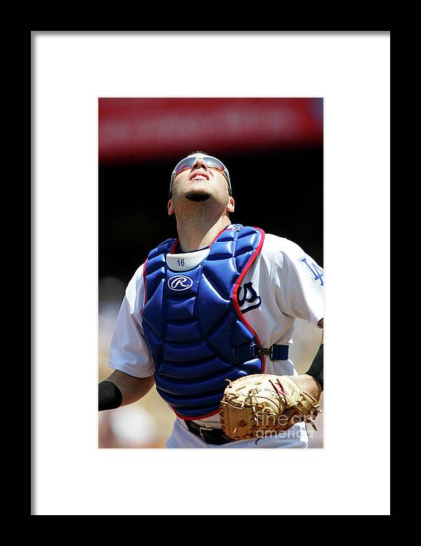 Foul Framed Print featuring the photograph Todd Helton by Jon Soohoo