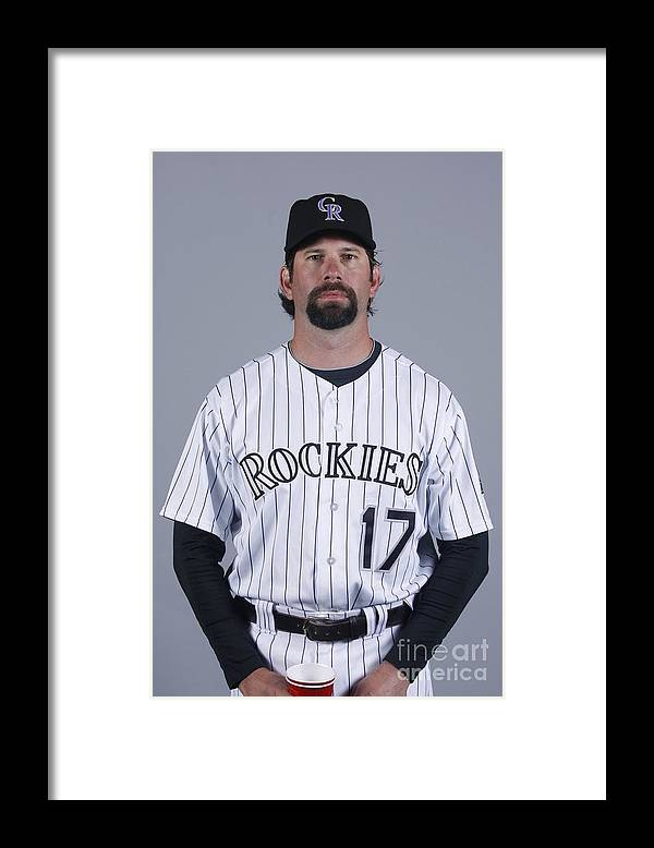 Media Day Framed Print featuring the photograph Todd Helton by Rick Scuteri