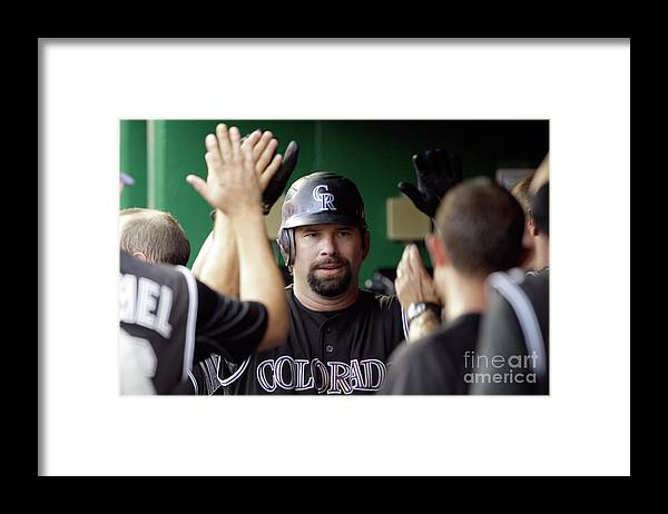 People Framed Print featuring the photograph Todd Helton by Rob Carr