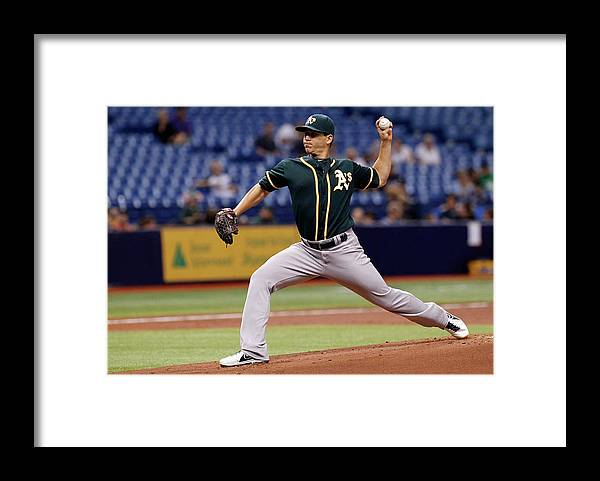 American League Baseball Framed Print featuring the photograph Tommy Milone by Brian Blanco