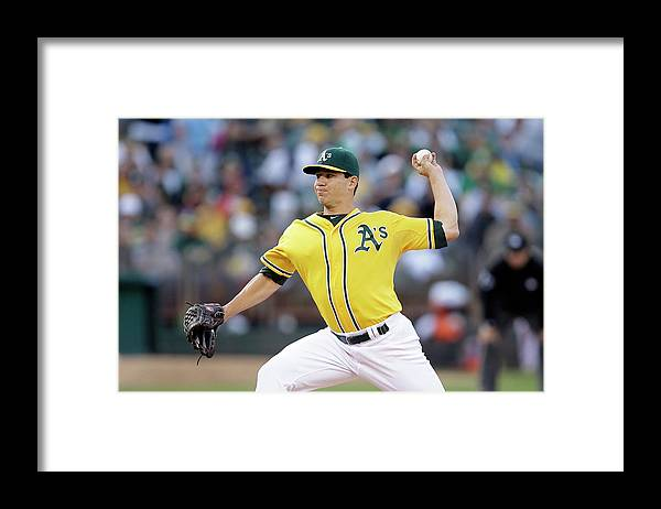 American League Baseball Framed Print featuring the photograph Tommy Milone by Ezra Shaw