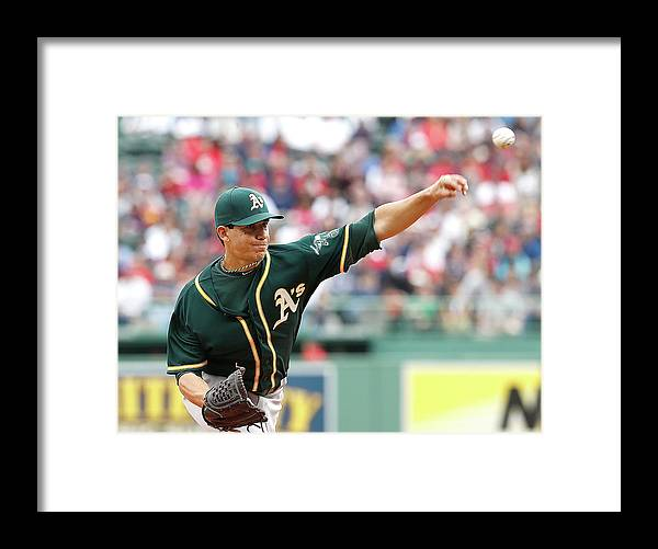 American League Baseball Framed Print featuring the photograph Tommy Milone by Jim Rogash