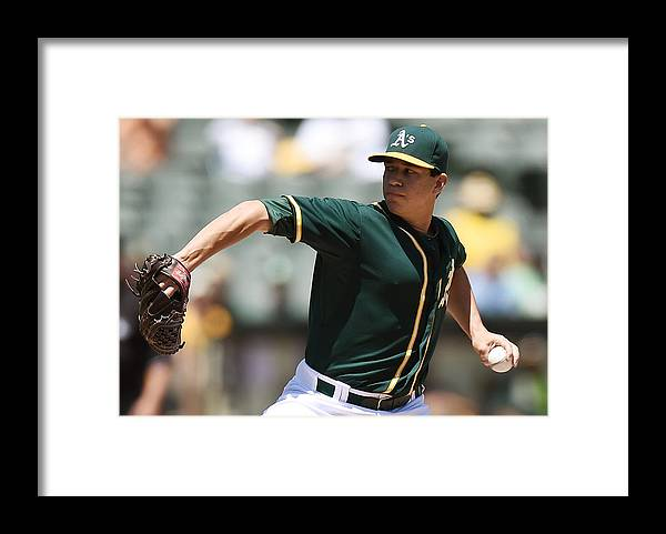American League Baseball Framed Print featuring the photograph Tommy Milone by Thearon W. Henderson