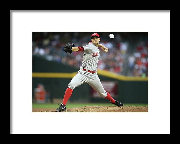 Baseball Pitcher Framed Print featuring the photograph Tony Cingrani by Christian Petersen