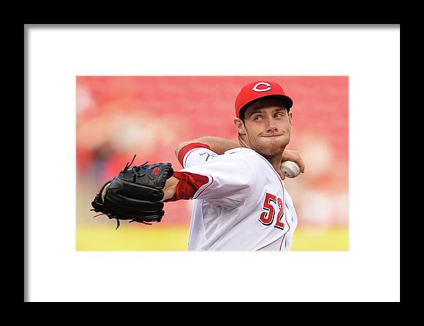 Great American Ball Park Framed Print featuring the photograph Tony Cingrani by Jamie Sabau