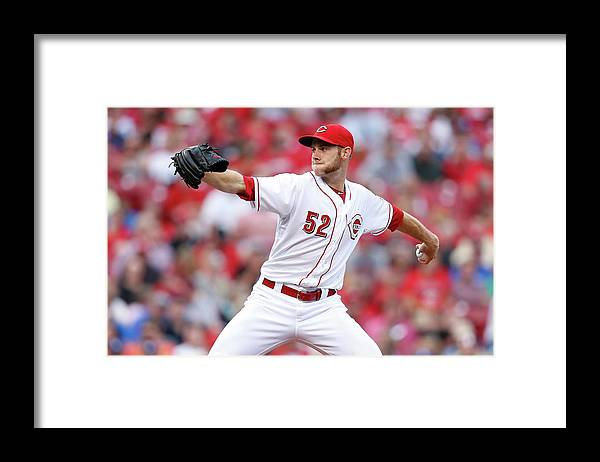 Great American Ball Park Framed Print featuring the photograph Tony Cingrani by Joe Robbins