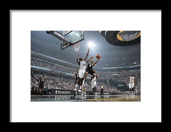 Playoffs Framed Print featuring the photograph Tony Parker by Joe Murphy