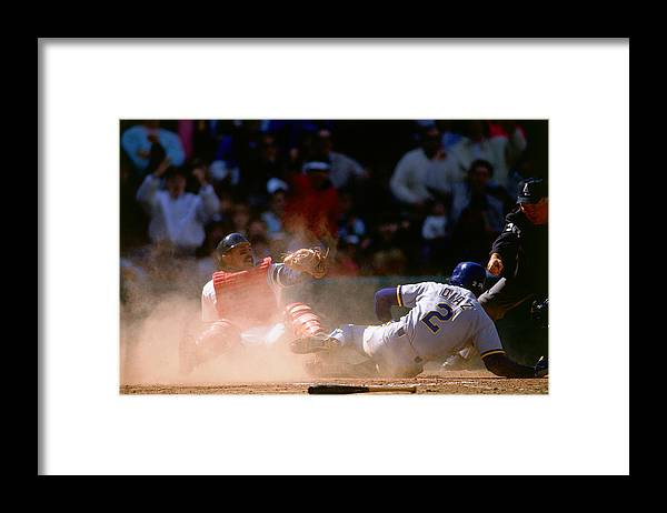 American League Baseball Framed Print featuring the photograph Tony Pena by Ronald C. Modra/sports Imagery