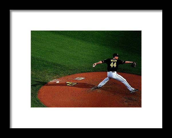 Professional Sport Framed Print featuring the photograph Tony Watson by Justin K. Aller