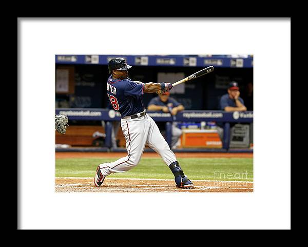 People Framed Print featuring the photograph Torii Hunter by Brian Blanco