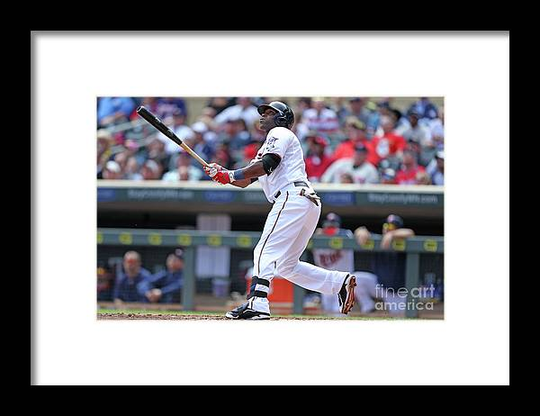 Second Inning Framed Print featuring the photograph Torii Hunter by David Sherman