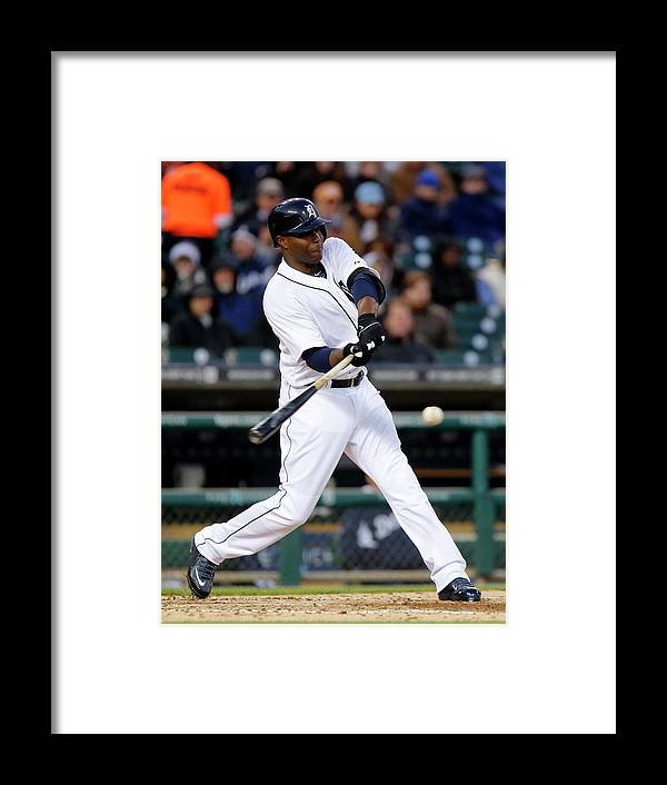 American League Baseball Framed Print featuring the photograph Torii Hunter by Duane Burleson