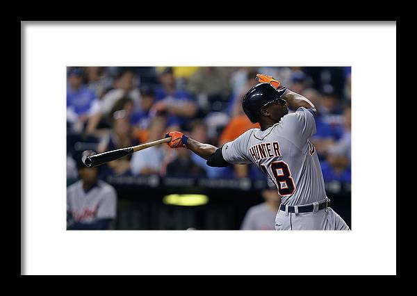 Ninth Inning Framed Print featuring the photograph Torii Hunter by Ed Zurga