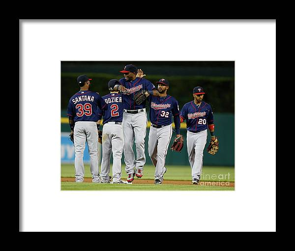 People Framed Print featuring the photograph Torii Hunter by Gregory Shamus