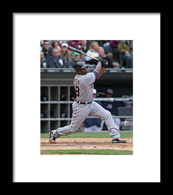 American League Baseball Framed Print featuring the photograph Torii Hunter by Jonathan Daniel