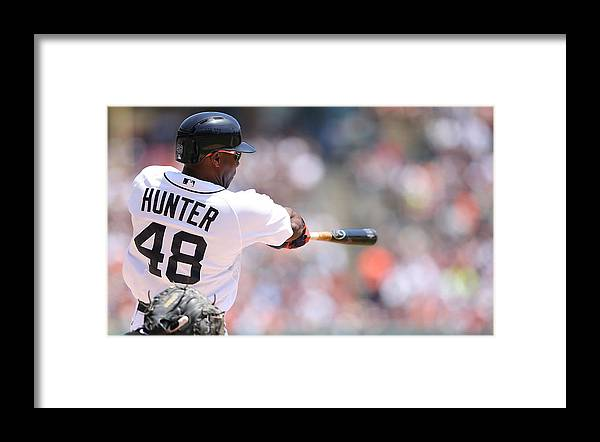 American League Baseball Framed Print featuring the photograph Torii Hunter by Leon Halip