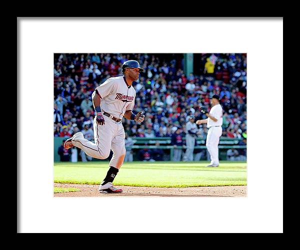 People Framed Print featuring the photograph Torii Hunter by Winslow Townson