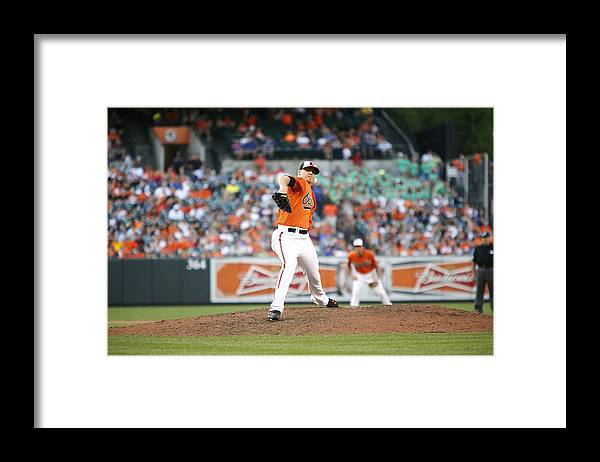 Ninth Inning Framed Print featuring the photograph Toronto Blue Jays v Baltimore Orioles by Jonathan Ernst