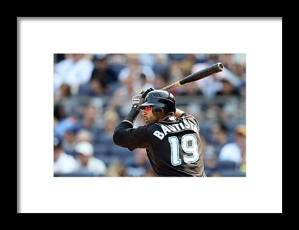 American League Baseball Framed Print featuring the photograph Toronto Blue Jays v New York Yankees by Jim McIsaac