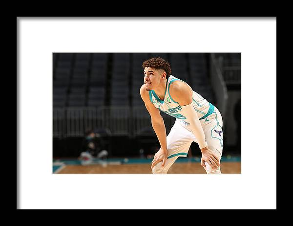 Nba Pro Basketball Framed Print featuring the photograph Toronto Raptors v Charlotte Hornets by Kent Smith