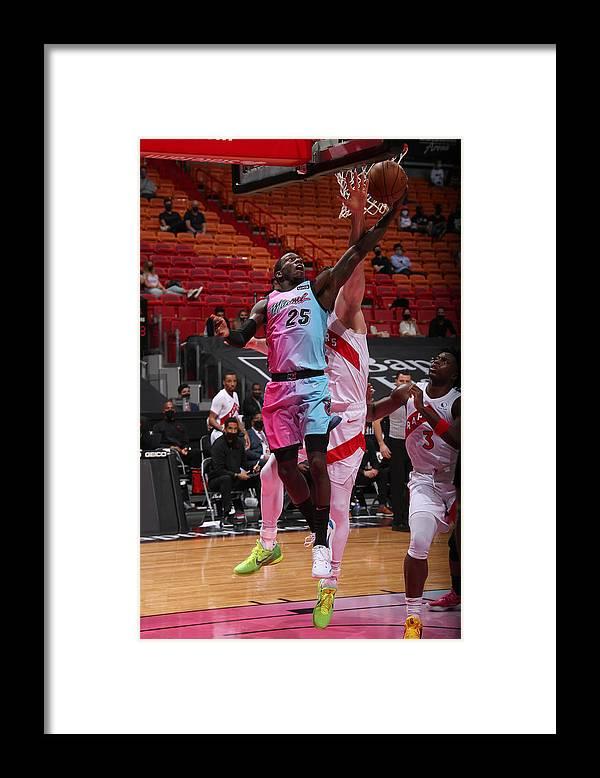 Nba Pro Basketball Framed Print featuring the photograph Toronto Raptors v Miami Heat by Issac Baldizon