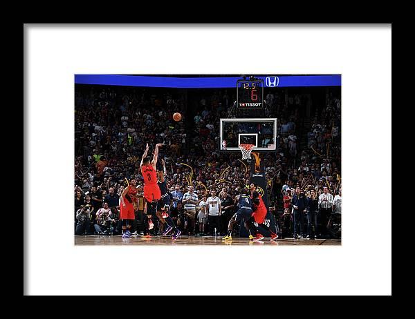 Playoffs Framed Print featuring the photograph Torrey Craig and C.j. Mccollum by Garrett Ellwood