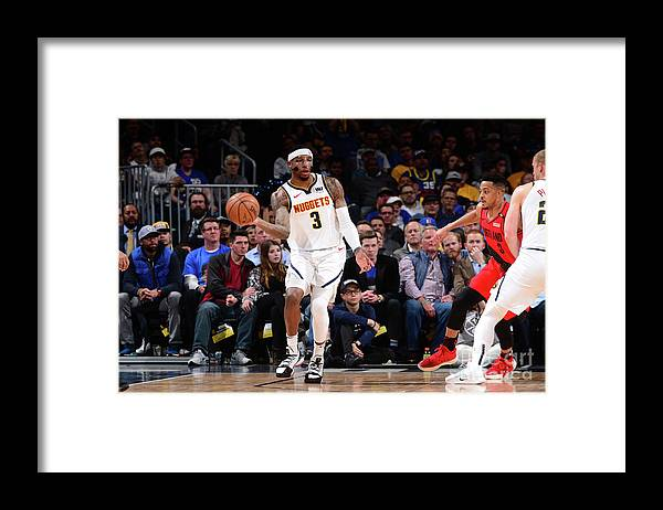 Playoffs Framed Print featuring the photograph Torrey Craig by Bart Young