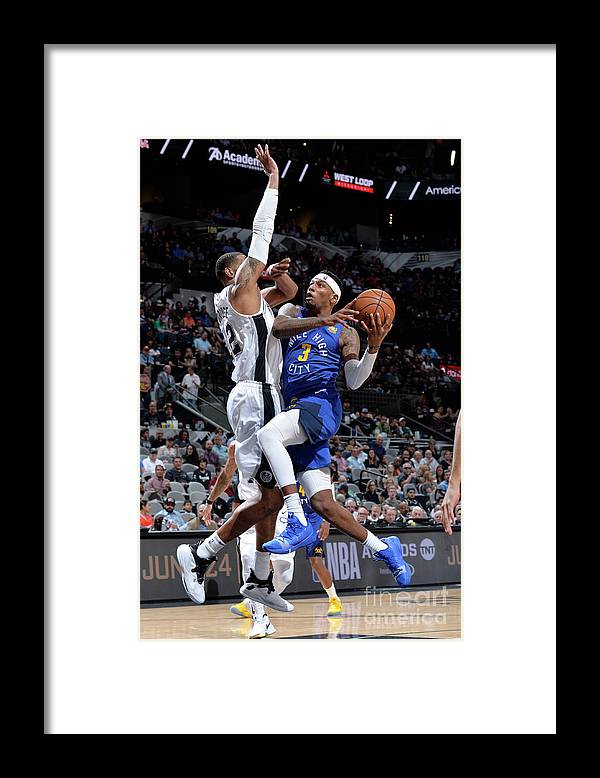 Playoffs Framed Print featuring the photograph Torrey Craig by Mark Sobhani