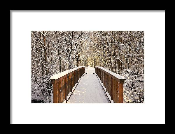 Snow Framed Print featuring the photograph Towards The Winter Wonderland by Bernd Schunack
