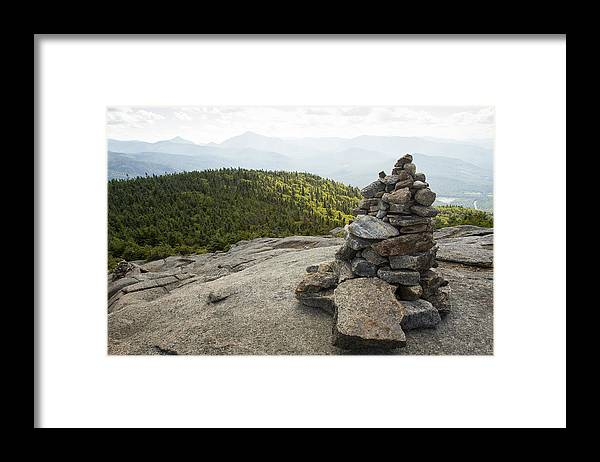 Scenics Framed Print featuring the photograph Trail Marker to Cascade Mountain by Nick Pedersen