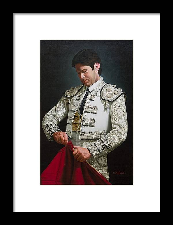 Figurative Framed Print featuring the painting Traje de Luces by Gary Hernandez
