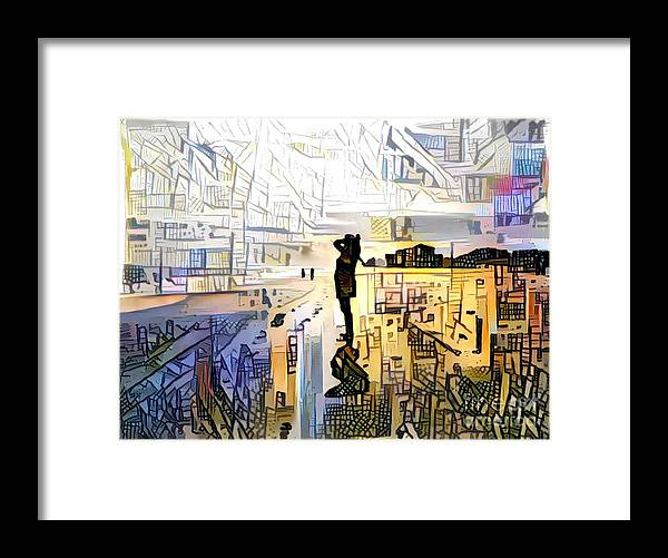 Abstract Framed Print featuring the photograph Transitioning by Eddy Mann