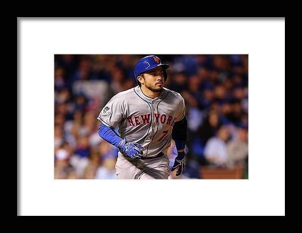 Three Quarter Length Framed Print featuring the photograph Travis D'arnaud and Jason Hammel by Elsa