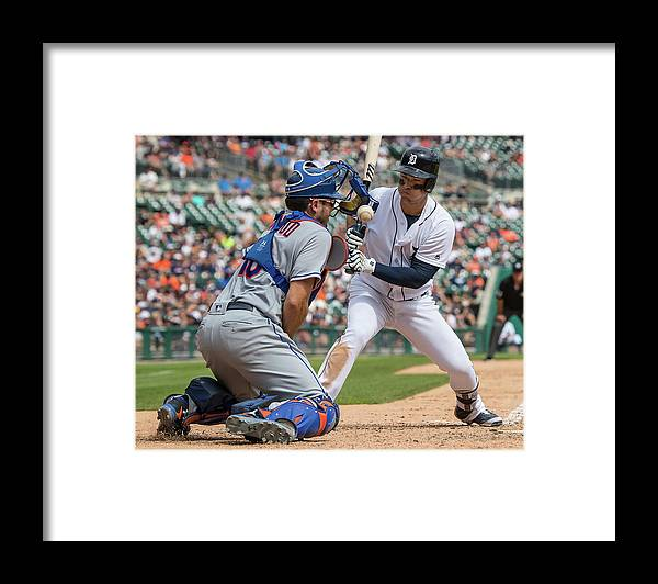 Baseball Catcher Framed Print featuring the photograph Travis D'arnaud by Dave Reginek