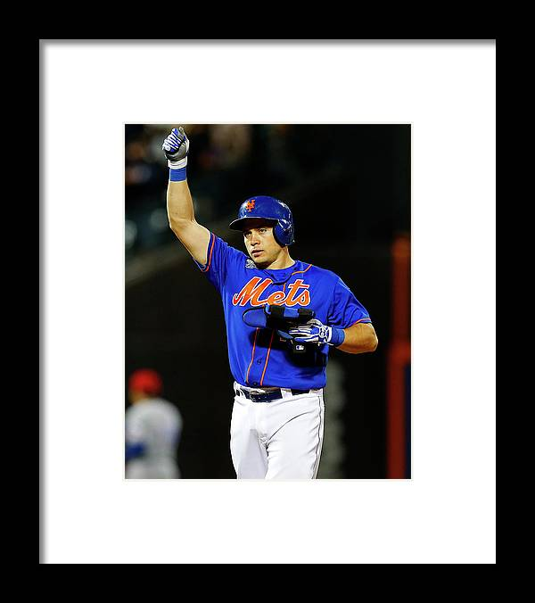 American League Baseball Framed Print featuring the photograph Travis D'arnaud by Rich Schultz