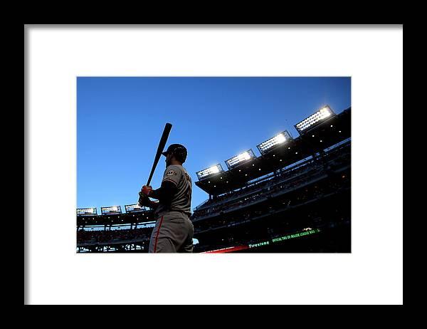 Travis Ishikawa Framed Print featuring the photograph Travis Ishikawa by Rob Carr