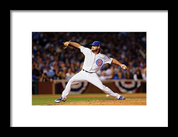 Second Inning Framed Print featuring the photograph Travis Wood by Elsa