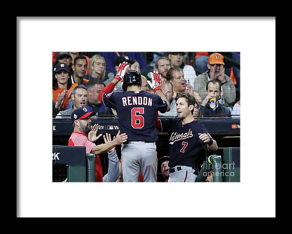 People Framed Print featuring the photograph Trea Turner and Anthony Rendon by Elsa