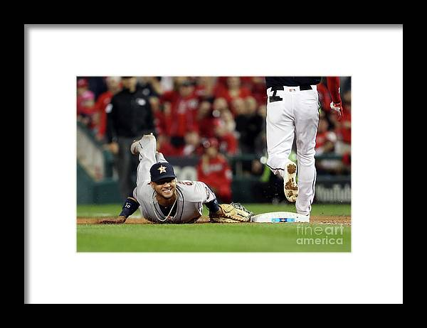 Yulieski Gourriel Framed Print featuring the photograph Trea Turner by Patrick Smith