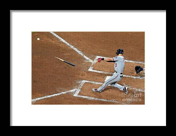 Atlanta Framed Print featuring the photograph Trea Turner by Scott Cunningham