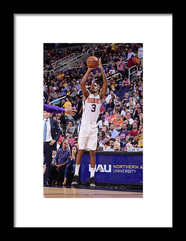 Nba Pro Basketball Framed Print featuring the photograph Trevor Ariza by Michael Gonzales