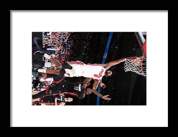 Nba Pro Basketball Framed Print featuring the photograph Trevor Ariza by Sam Forencich