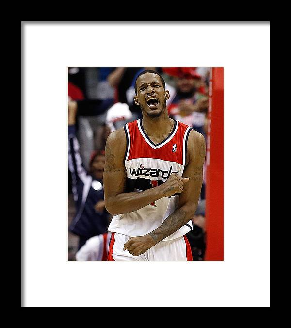 Playoffs Framed Print featuring the photograph Trevor Ariza by Win Mcnamee