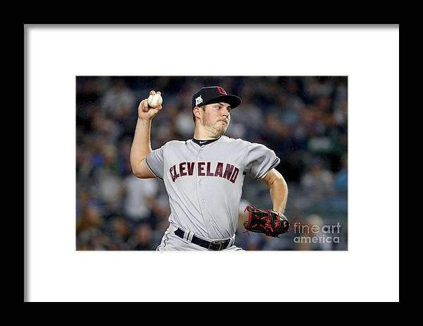 Three Quarter Length Framed Print featuring the photograph Trevor Bauer by Al Bello