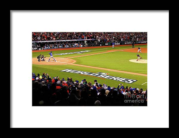 Game Two Framed Print featuring the photograph Trevor Bauer and Dexter Fowler by Gregory Shamus