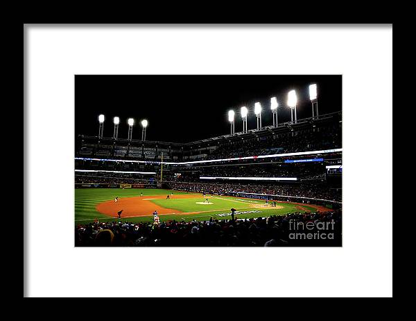 Game Two Framed Print featuring the photograph Trevor Bauer by Jamie Squire